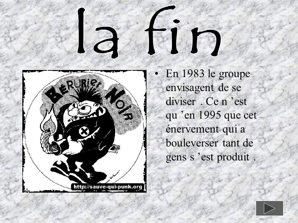 En 1983 le groupe envisagent de se diviser.