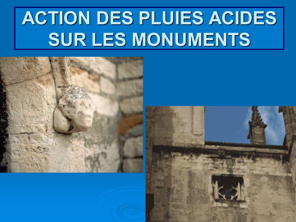 ACTION DES PLUIES ACIDES SUR LES MONUMENTS