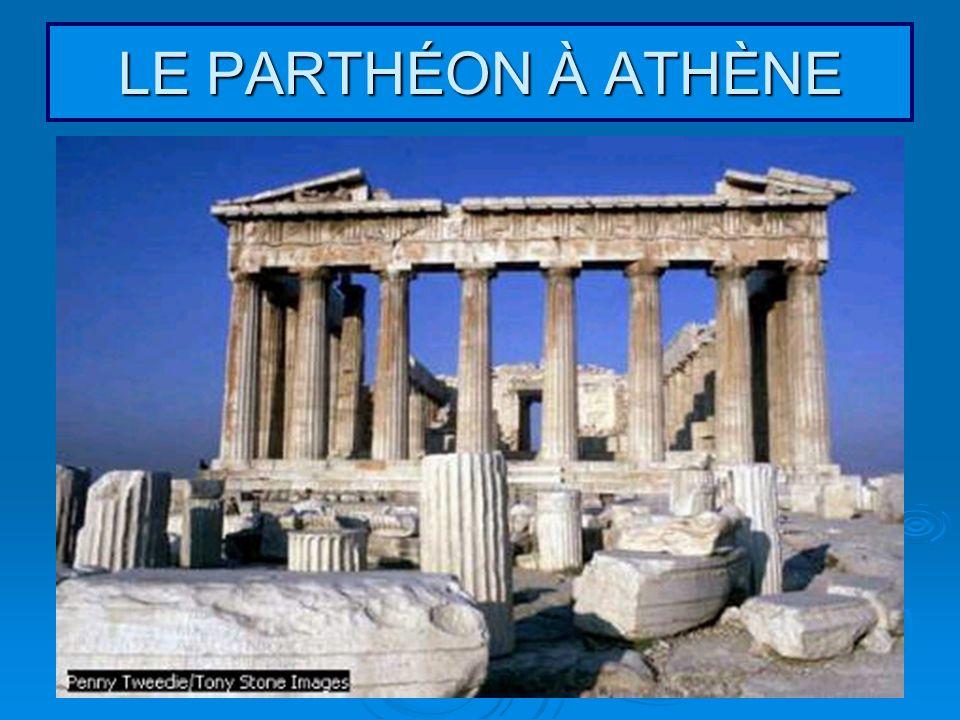LE PARTHÉON À ATHÈNE