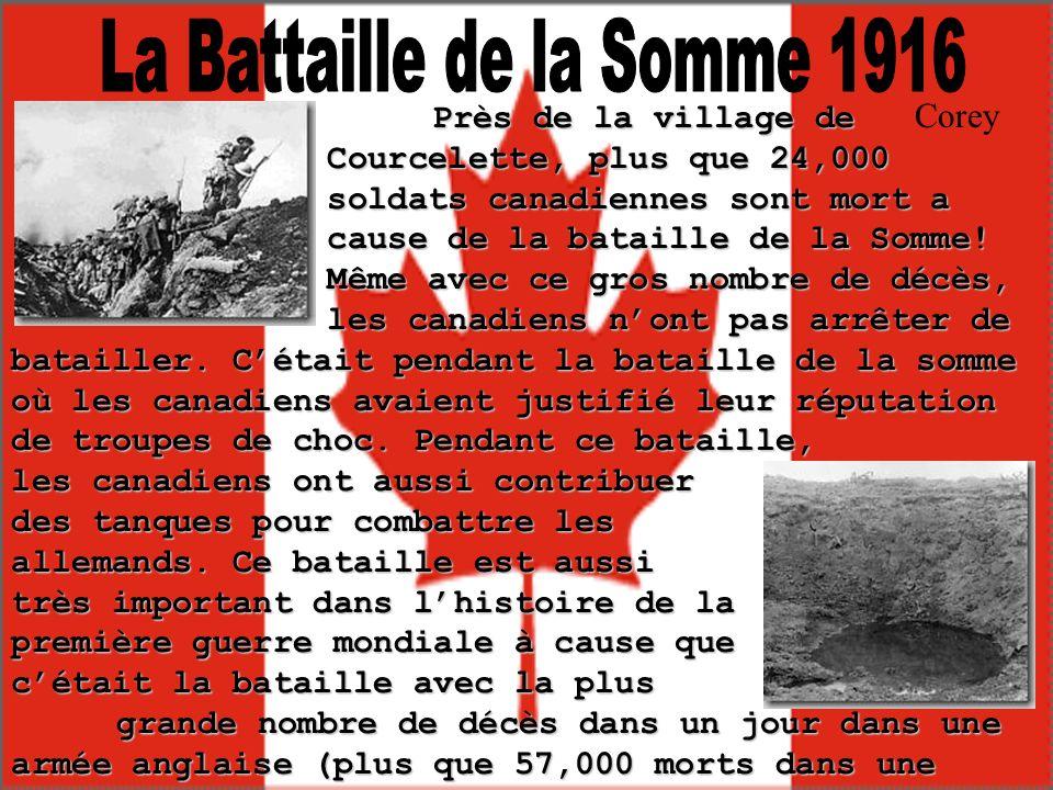 150,000 soldats français sont mort en essayant de prendre la crète Vimy, une crète allemande extrèmement fortifiée et défendu.