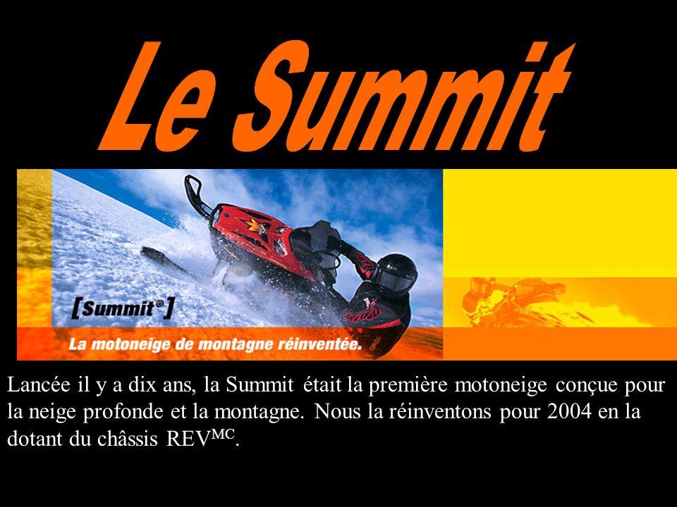Lancée il y a dix ans, la Summit était la première motoneige conçue pour la neige profonde et la montagne.