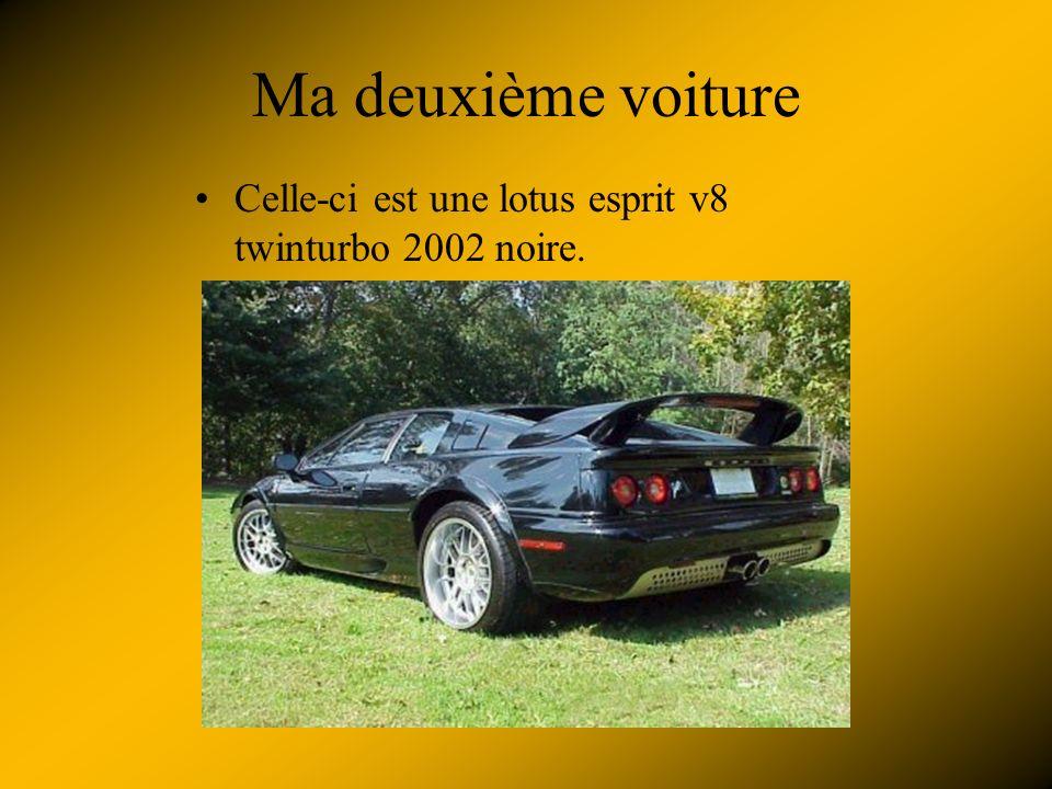 Mes autos préférées Ma première auto est une lotus exige 2004.