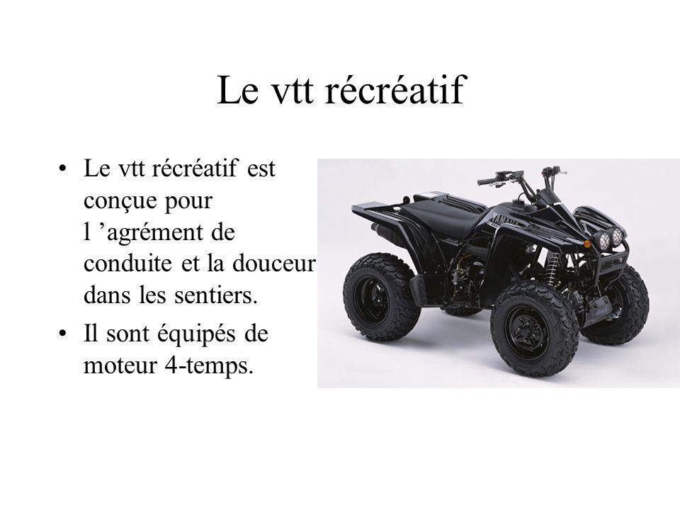 Le vtt (véhicule tout terrain) Le vtt est un véhicule (2 ou 4 roues motrices) hors route.