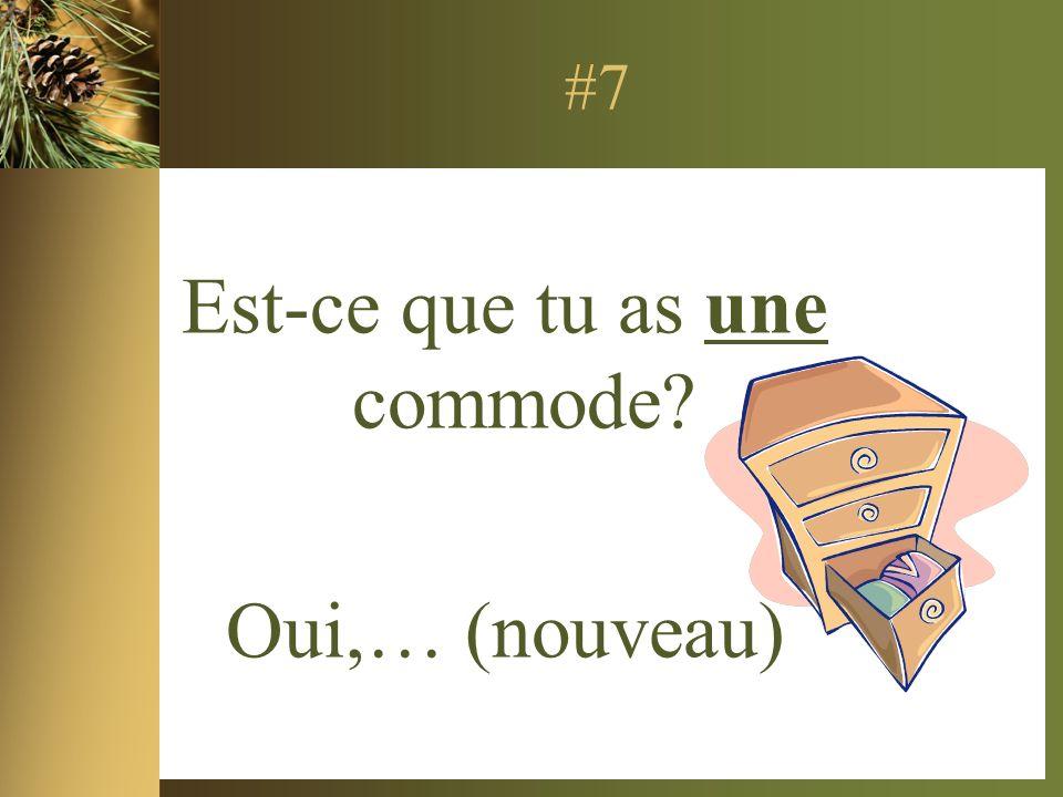 #7 Est-ce que tu as une commode Oui,… (nouveau)