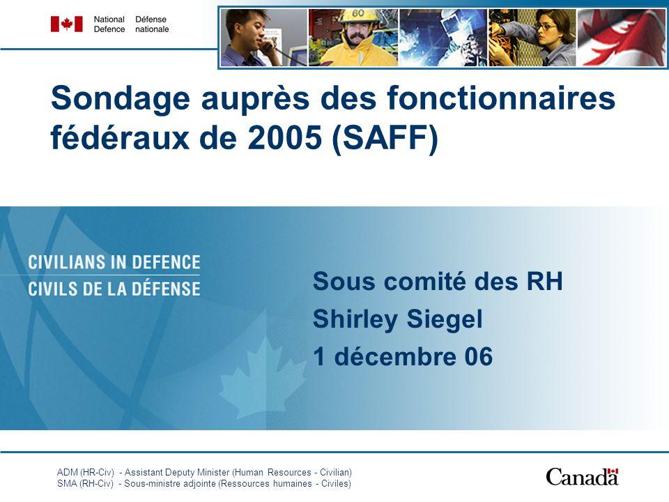 ADM (HR-Civ) - Assistant Deputy Minister (Human Resources - Civilian) SMA (RH-Civ) - Sous-ministre adjointe (Ressources humaines - Civiles) 1 Sondage
