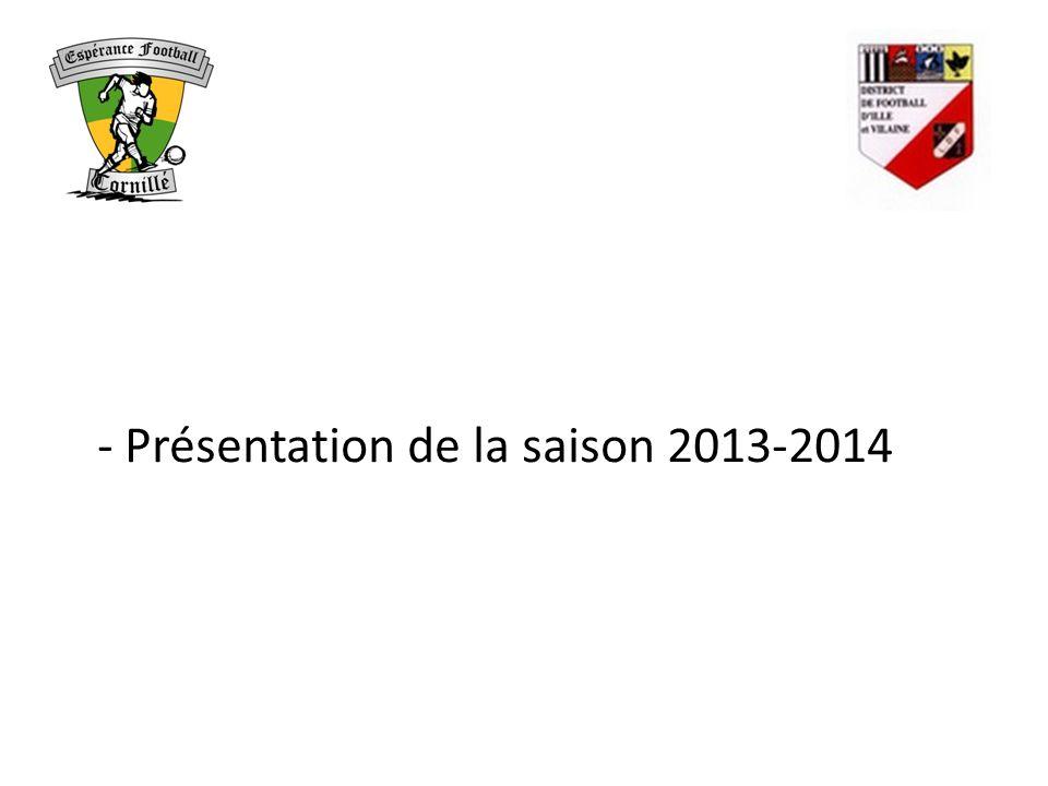 - Présentation de la saison 2013-2014