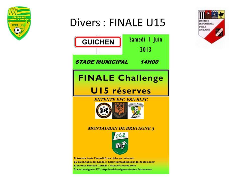 Divers : FINALE U15