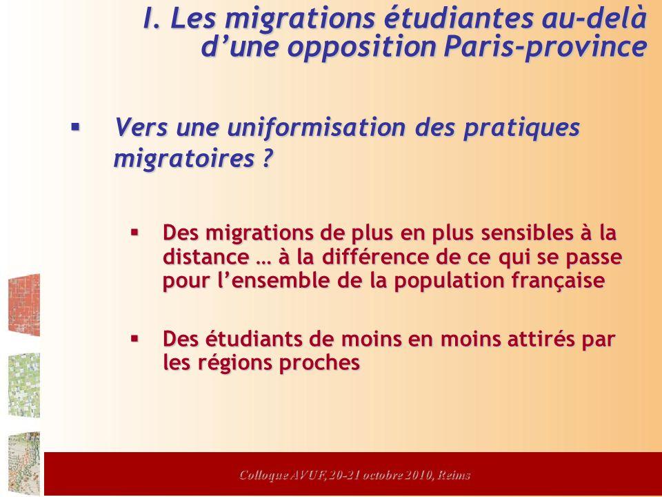 Vers une uniformisation des pratiques migratoires .