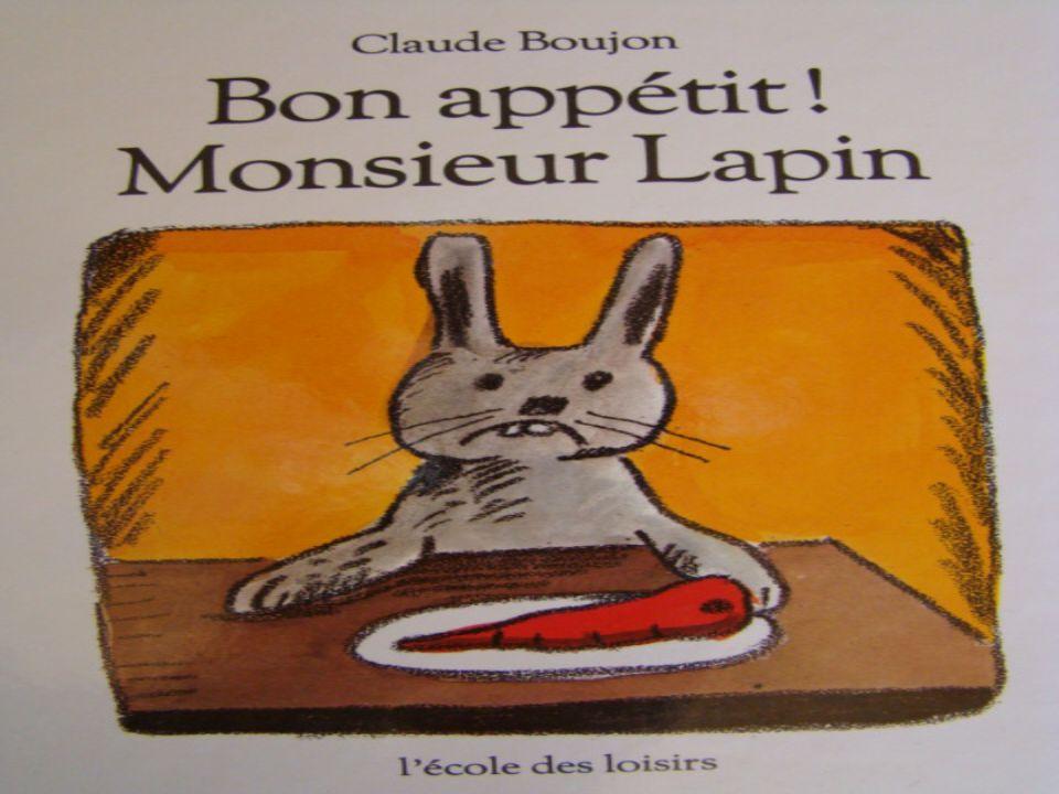 …mais narrive qua lui croquer les oreilles. Monsieur Lapin tout tremblant rentre vite chez lui.