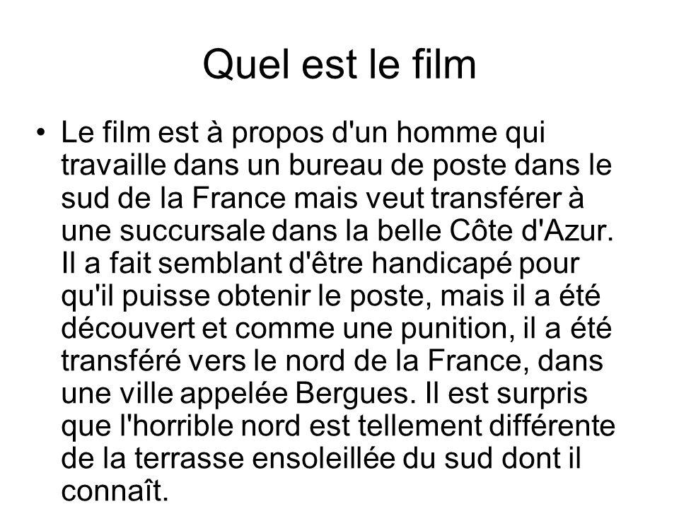 Quel est le film Le film est à propos d'un homme qui travaille dans un bureau de poste dans le sud de la France mais veut transférer à une succursale