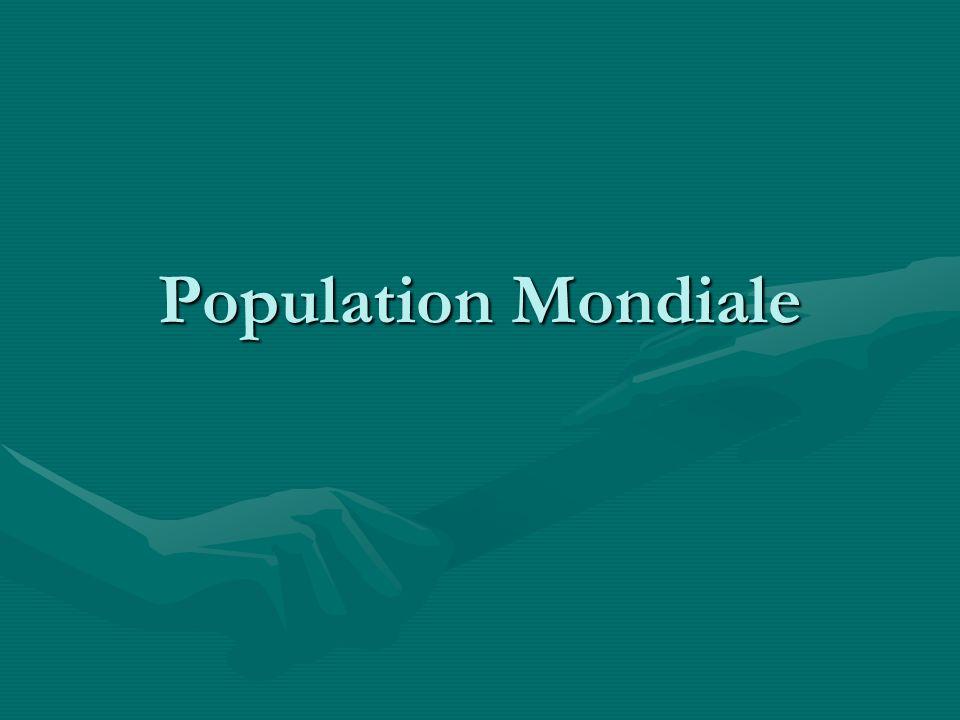 Démographie Est létude statistique de la population humaine.Est létude statistique de la population humaine.