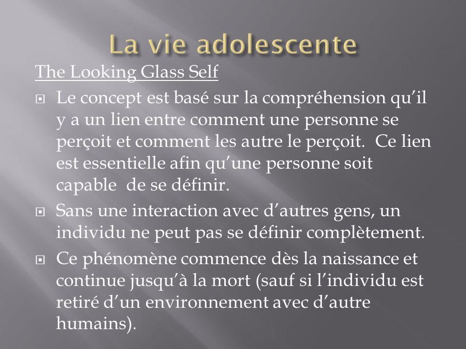The Looking Glass Self Le concept est basé sur la compréhension quil y a un lien entre comment une personne se perçoit et comment les autre le perçoit