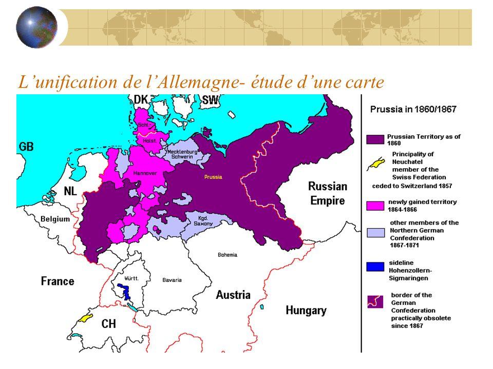 Lunification de lAllemagne- étude dune carte