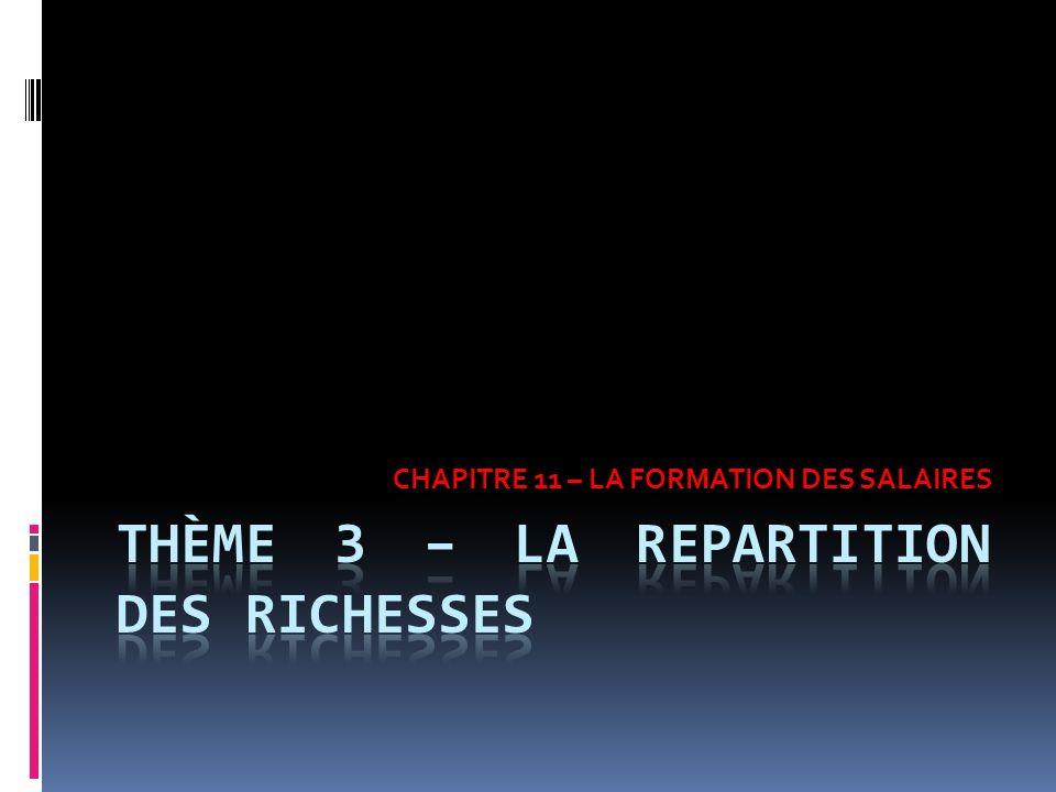 CHAPITRE 11 – LA FORMATION DES SALAIRES