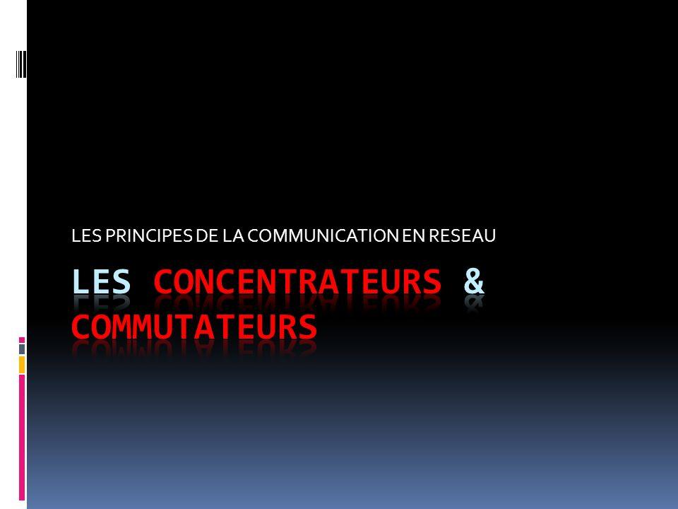 LES PRINCIPES DE LA COMMUNICATION EN RESEAU