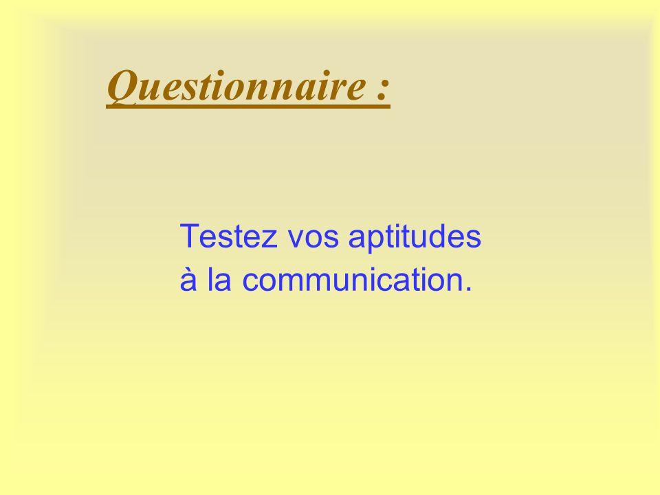 Communiquer efficacement 1 – Communication ciblée 2 – Message verbal 3 – message non verbal
