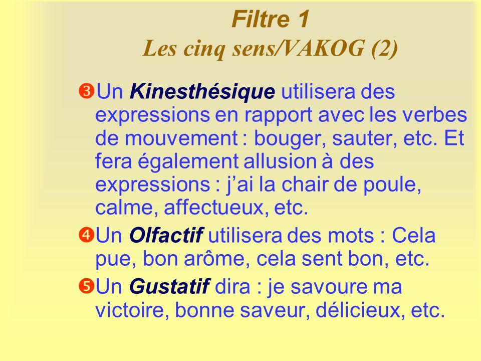 Filtre 2 Le tri d information/GALO Gens : On ne traite que des informations relatives aux personnes ou aux groupes.