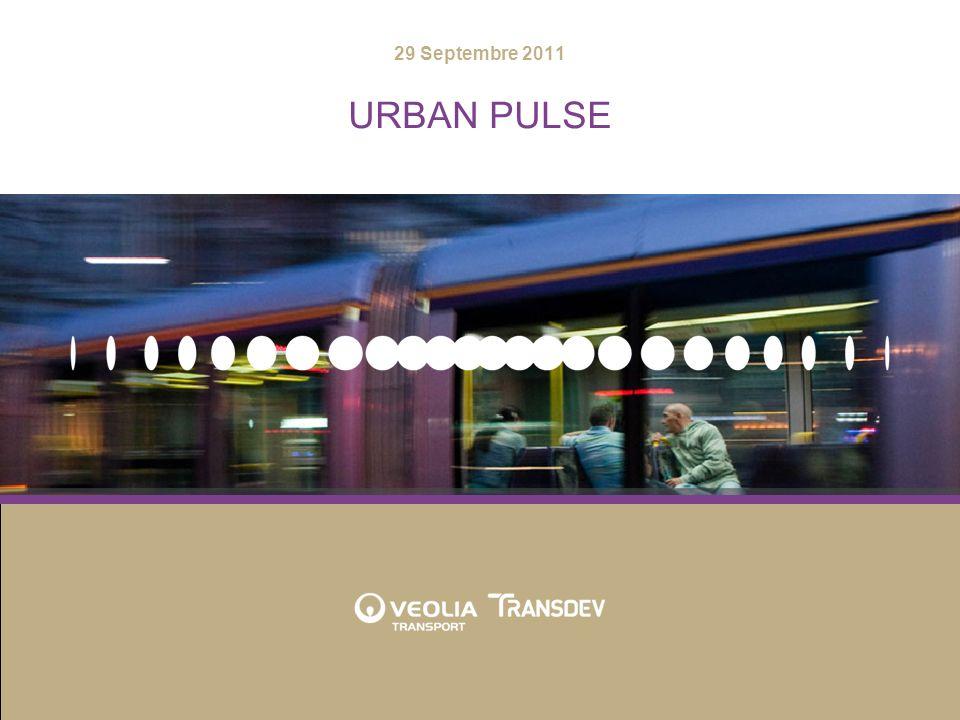 URBAN PULSE2 Présentation Urban Pulse Contexte: le monde du transport en évolution Le concept Urban Pulse Démonstration Quelques chiffres Le rôle de VeoliaTransdev au sein de Sitra