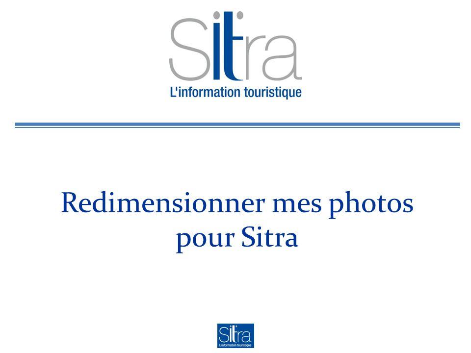 Redimensionner mes photos pour Sitra