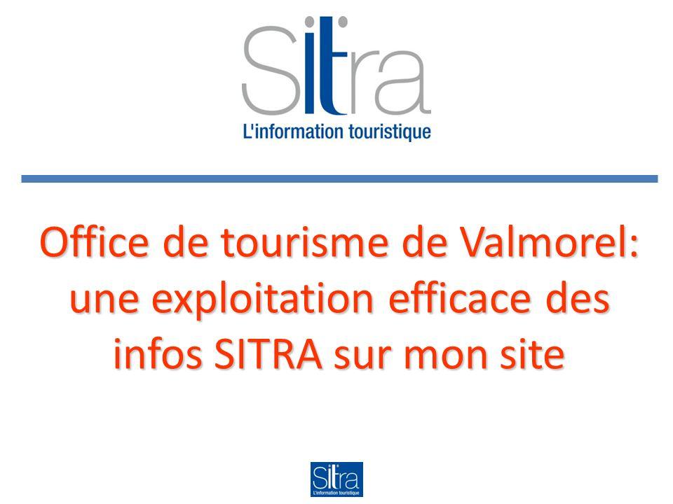 Office de tourisme de Valmorel: une exploitation efficace des infos SITRA sur mon site