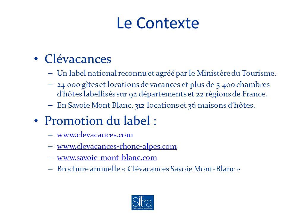 Le Contexte Clévacances – Un label national reconnu et agréé par le Ministère du Tourisme. – 24 000 gîtes et locations de vacances et plus de 5 400 ch