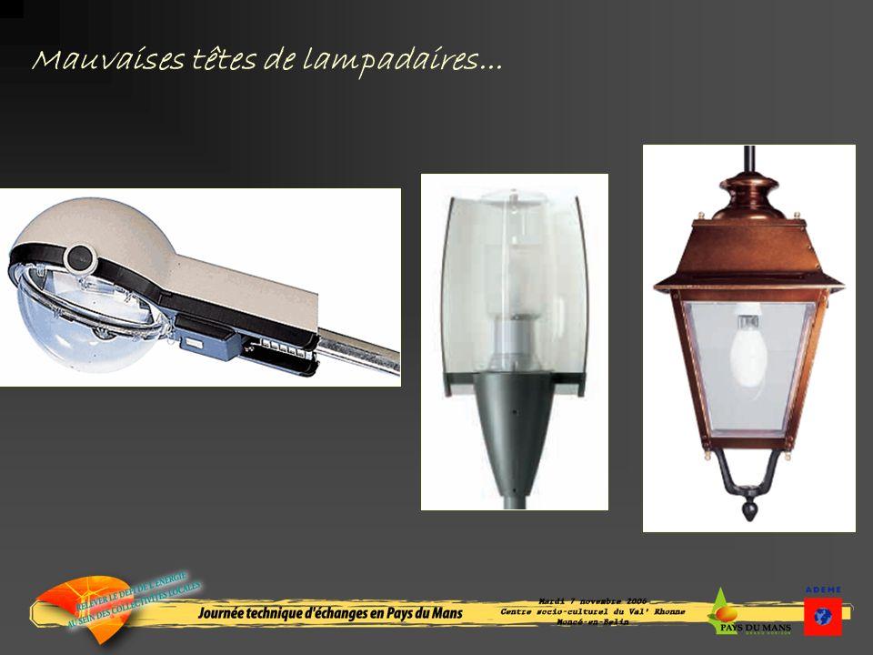 Mauvaises têtes de lampadaires...