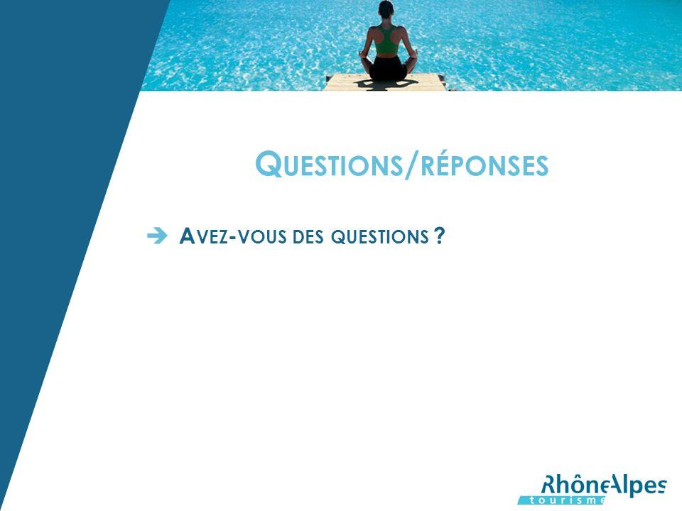 Q UESTIONS / RÉPONSES A VEZ - VOUS DES QUESTIONS