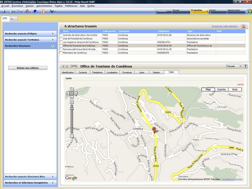 Mes données SITRA sur Google Earth .