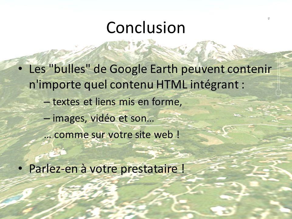 Conclusion Les