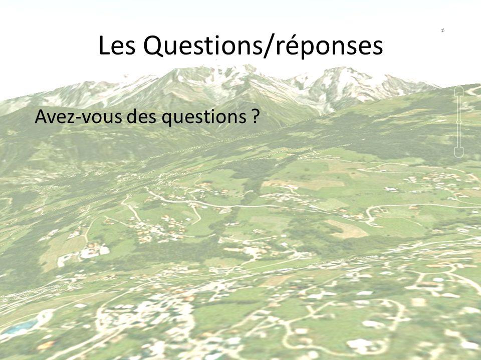 Les Questions/réponses Avez-vous des questions ?
