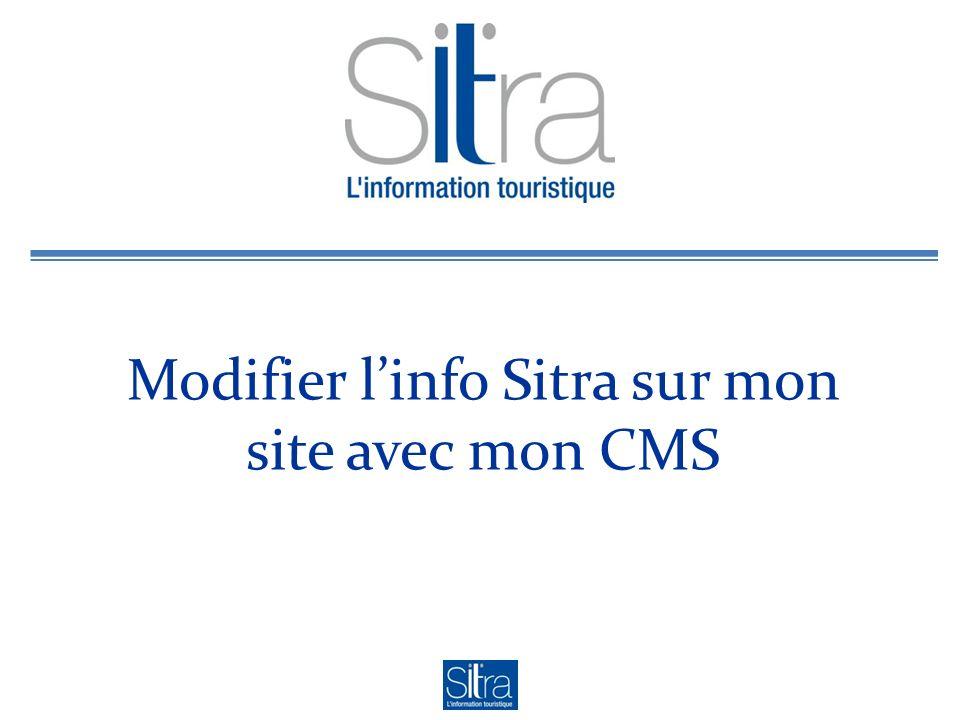 Modifier linfo Sitra sur mon site avec mon CMS
