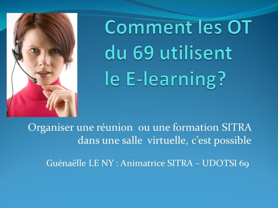 Organiser une réunion ou une formation SITRA dans une salle virtuelle, cest possible Guénaëlle LE NY : Animatrice SITRA – UDOTSI 69