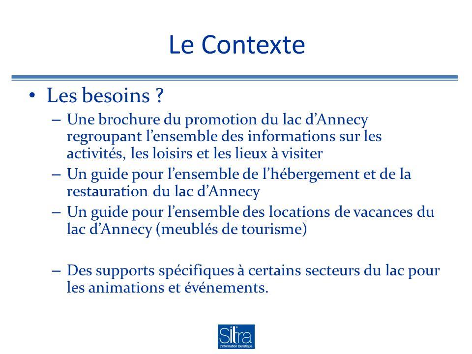 Le Contexte Les besoins .