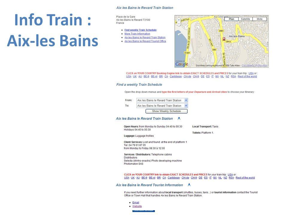 Info Train : Aix-les Bains