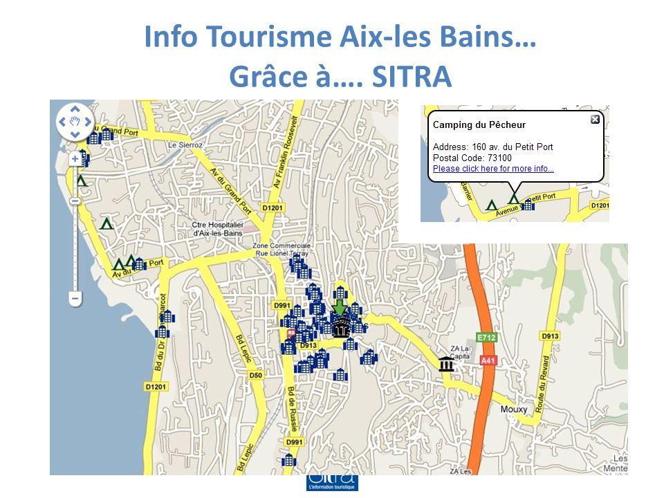 Info Tourisme Aix-les Bains… Grâce à…. SITRA