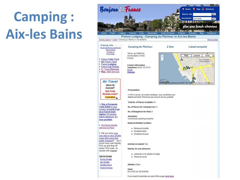 Camping : Aix-les Bains