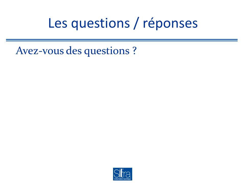 Les questions / réponses Avez-vous des questions