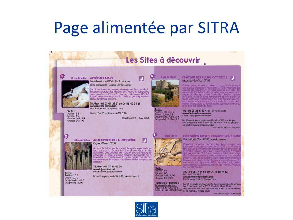 Page alimentée par SITRA