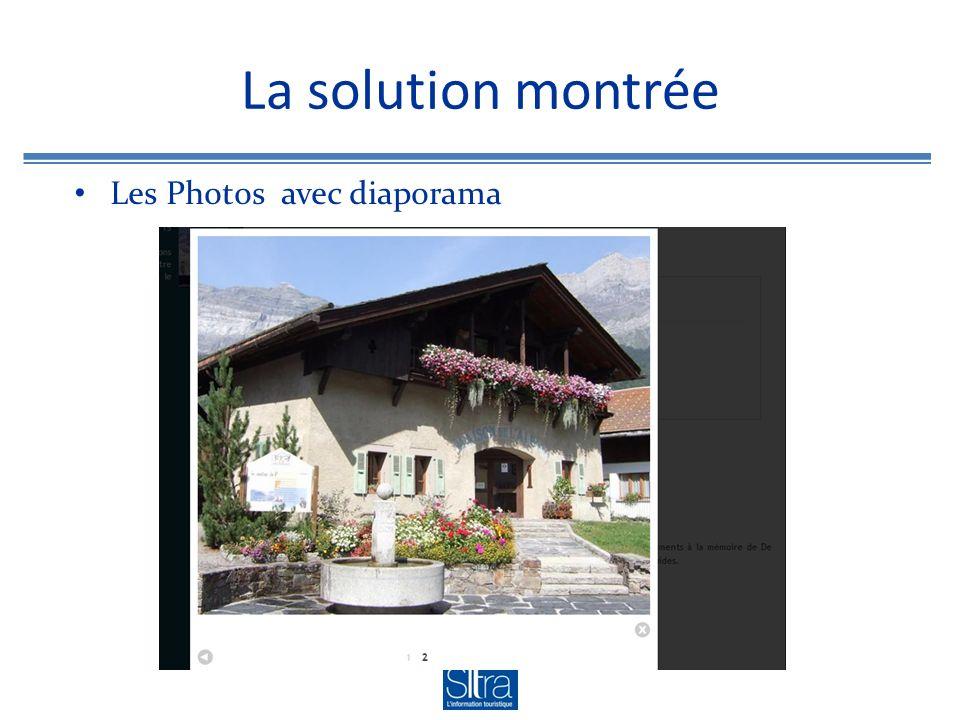 La solution montrée Les Photos avec diaporama