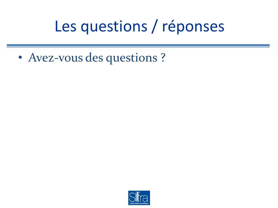 Les questions / réponses Avez-vous des questions ?