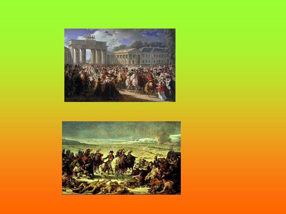 LA GRANDE ARMEE Avec sa grande armée de 500,000 hommes, Napoléon a conquis beaucoup de pays européens