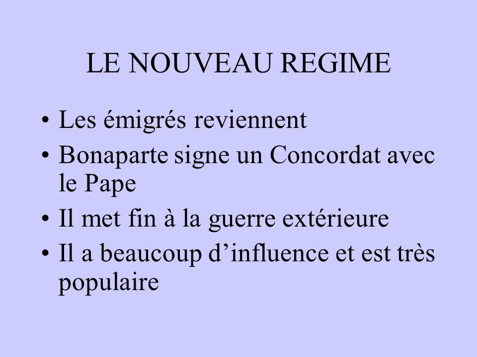 LE CONSULAT La France crée un système de trois consuls Il y a trois consuls mais Napoléon devient Premier Consul et a tout le pouvoir