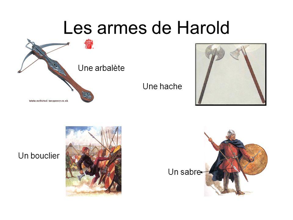 Larmée de Harold Harold a les paysans. Ils travaillent normalement dans une ferme. En anglais, on dit fyrd. Ils ne sont pas professionels!!