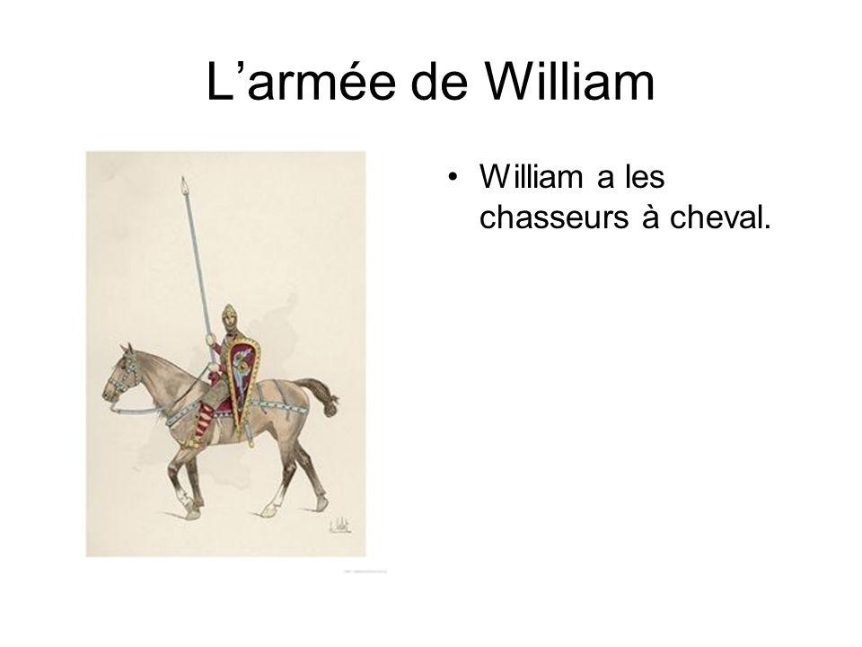 Larmée de William William a les archers.