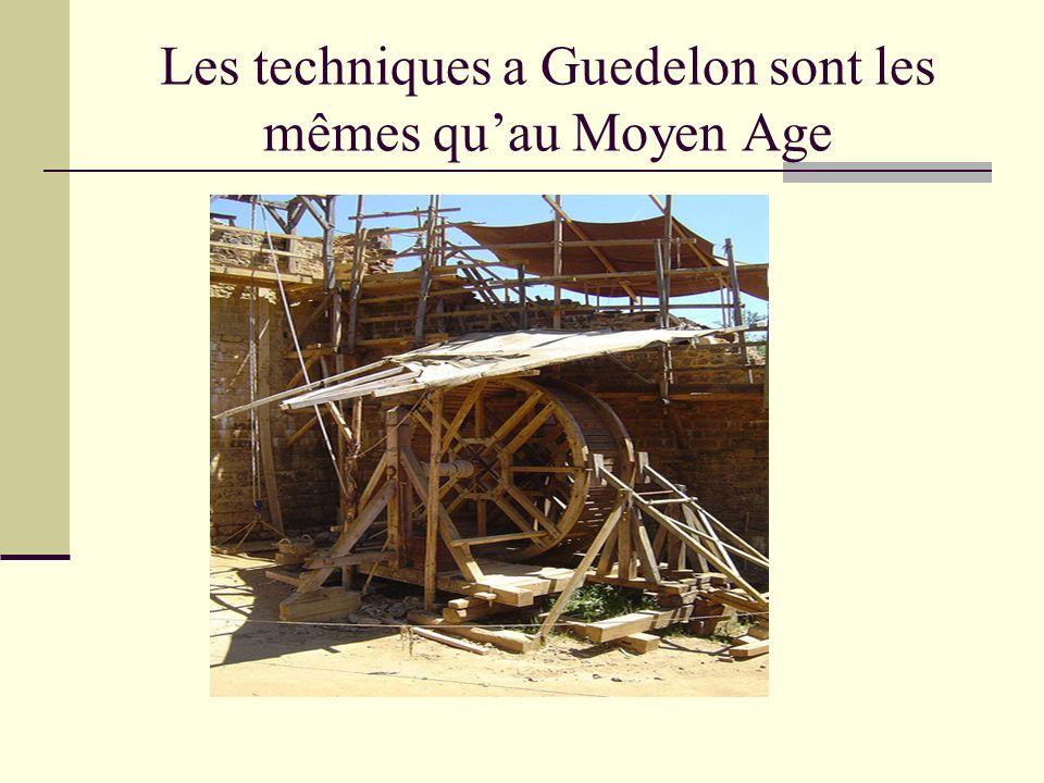 Les techniques a Guedelon sont les mêmes quau Moyen Age