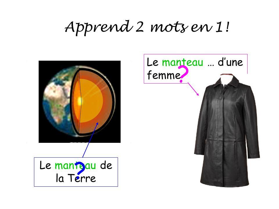 Le manteau de la Terre Le manteau … dune femme Apprend 2 mots en 1! ? ?