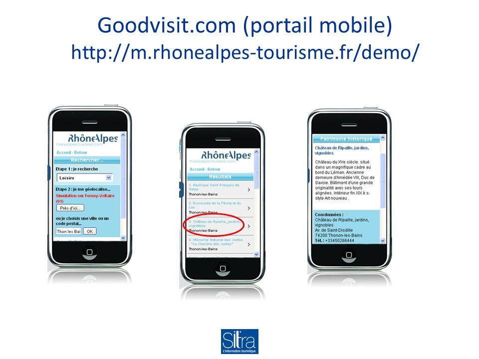 Goodvisit.com (portail mobile) http://m.rhonealpes-tourisme.fr/demo/
