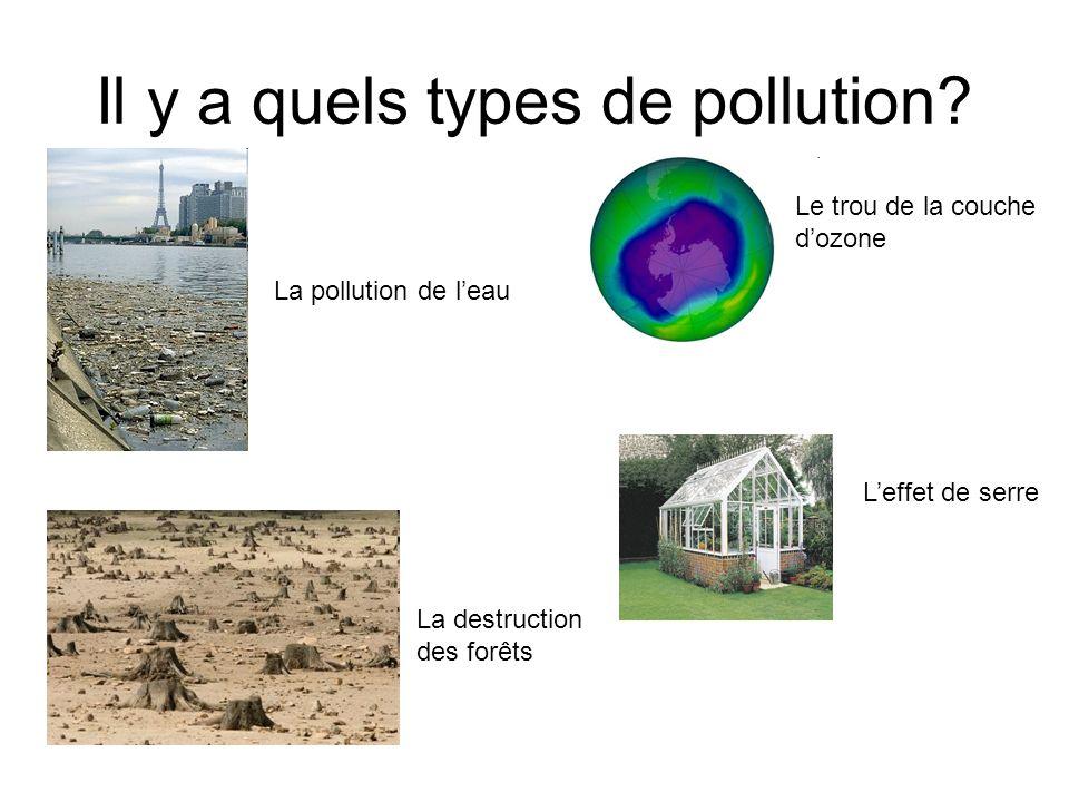 Il y a quels types de pollution.
