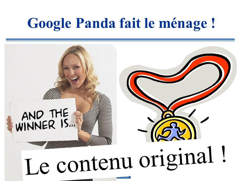 Google Panda fait le ménage .