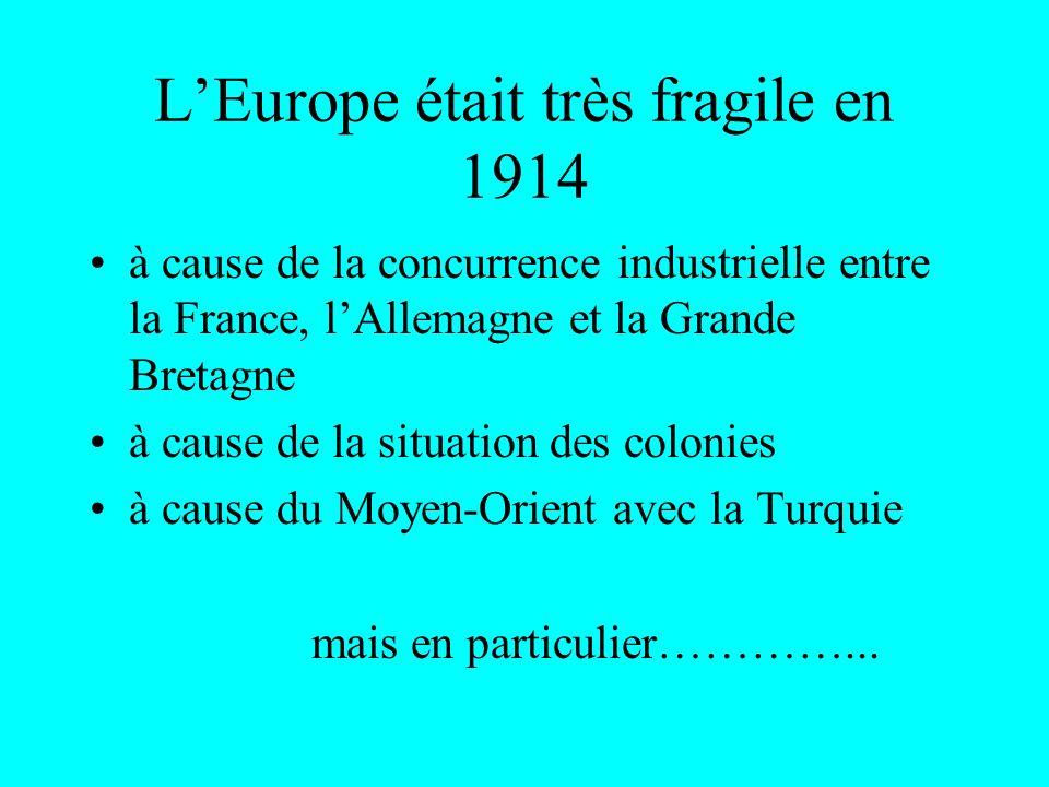 LES PROBLEMES EN 1914